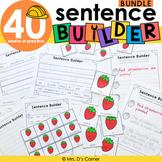 Sentence Builder Bundle |Special Education Writing Bundle