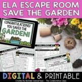 Spring Escape Room | ELA Test Prep Review | Print + Digital