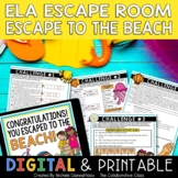 Summer Escape Room | Escape to the Beach | ELA Escape Room End of Year Review