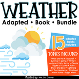 Types of Weather Adapted Book Bundle [ Level 1 and 2 ] Wea