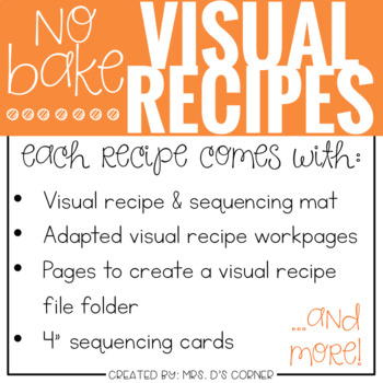 June Visual Recipes with REAL pictures ( for special education )