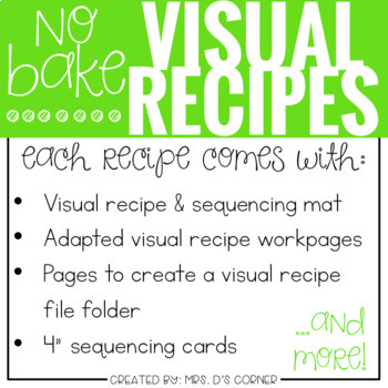 Visual Recipes with REAL pictures - October ( for special education )