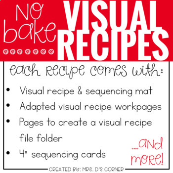 PRESALE Visual Recipes with REAL pictures - September ( for special education )