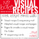 Visual Recipes with REAL pictures - September ( for special education )