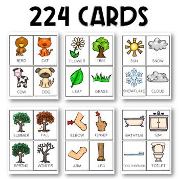 PRESCHOOL: Over 200 Early Vocabulary Flash Cards + BONUS