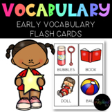 224 Early Vocabulary Flash Cards for Preschool, Autism, SPED + Data Sheet
