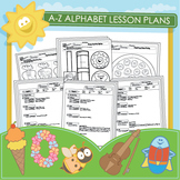 Preschool A-Z Lesson Plans and Over 100 Worksheets