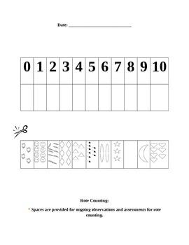 Preschool Assessment Kit: Math Skills