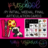 THE PRESCHOOL SLP: Articulation Cards Ring Resource /p/ initial, medial, final