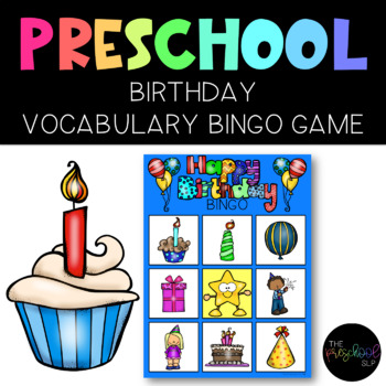 THE PRESCHOOL SLP: Birthday BINGO