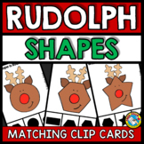 PRESCHOOL CHRISTMAS ACTIVITIES KINDERGARTEN (RUDOLPH SHAPES CENTER)