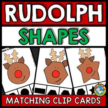 PRESCHOOL CHRISTMAS ACTIVITIES KINDERGARTEN (RUDOLPH SHAPES CENTER)