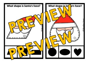 PRESCHOOL CHRISTMAS ACTIVITIES KINDERGARTEN (SANTA SHAPES CENTER)