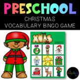 THE PRESCHOOL SLP: Christmas Vocabulary BINGO