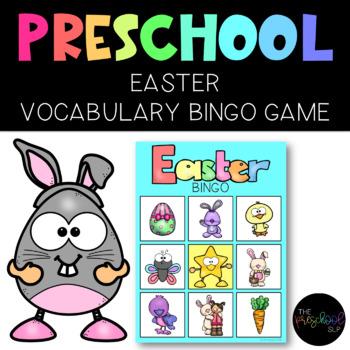 PRESCHOOL: Easter Vocabulary BINGO FREEBIE