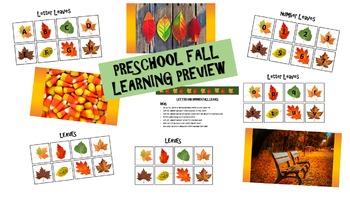 PRESCHOOL FALL LEARNING