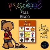 THE PRESCHOOL SLP: Fall Vocabulary BINGO