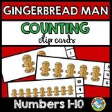 PRESCHOOL GINGERBREAD MAN ACTIVITIES (KINDERGARTEN COUNTING 1-10) NUMBER SENSE