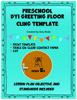 PRESCHOOL GREETING AND BEHAVIOR DYI FLOOR OR WALL CLINGS
