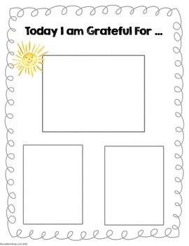 PRESCHOOL Gratitude Journal