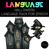 PRESCHOOL: Halloween Speech Language Activity Pack