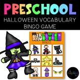 THE PRESCHOOL SLP: Halloween Vocabulary BINGO
