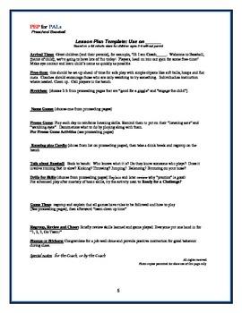 PRESCHOOL LESSON BUNDLE Spring Sports Baseball, Track&Field, Tumbling