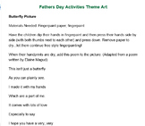 PRESCHOOL LESSON PLAN and ACTIVITIES- Father's Day Week
