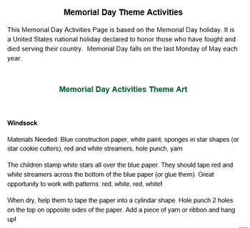 PRESCHOOL LESSON PLAN and ACTIVITIES- Mother's Day Week