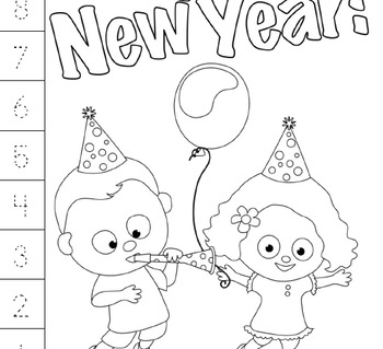 PRESCHOOL LESSON PLAN and ACTIVITIES- New Years Week