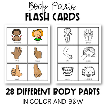 PRESCHOOL Learning Body Parts: Flashcards, Following Directions, Stomp Mat Game