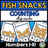 PRESCHOOL MATH ACTIVITIES (KINDERGARTEN PRINTABLES) FISH COUNTING CENTER