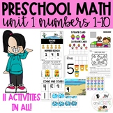 PRESCHOOL MATH ACTIVITIES NUMBERS 1-10- Distance Learning