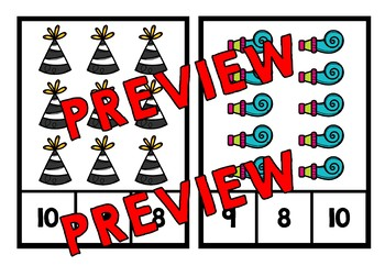 PRESCHOOL NEW YEAR ACTIVITIES (KINDERGARTEN COUNTING 1-10) NUMBER SENSE