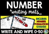 PRESCHOOL NUMBER WRITING WORKSHEETS OR PRACTICE MATS (CORR
