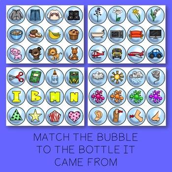 PRESCHOOL SLP: Bubble Fun Categories