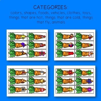 PRESCHOOL SLP: Carrot Categories
