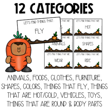 THE PRESCHOOL SLP: Carrot Categories