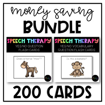 PRESCHOOL & SPED: YES/NO Questions BUNDLE, 2 Levels of Difficulty
