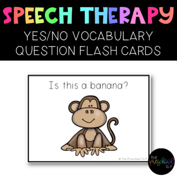 PRESCHOOL & SPED: YES/NO Vocabulary Questions