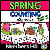 SPRING ACTIVITY PREK, PRESCHOOL (MAY MATH CENTER) COUNTING NUMBERS 1-10 GAMES