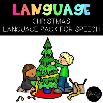 PRESCHOOL: Speech Therapy Christmas Language Pack
