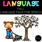 THE PRESCHOOL SLP: Speech Therapy Fall Language Pack