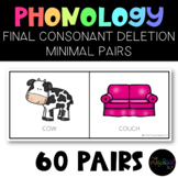 PRESCHOOL: Speech Therapy Final Consonant Deletion FCD Minimal Pairs