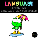 THE PRESCHOOL SLP: Speech Therapy Spring Language Pack