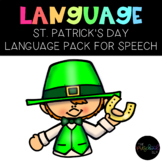PRESCHOOL: Speech Therapy St. Patrick's Day Language Pack