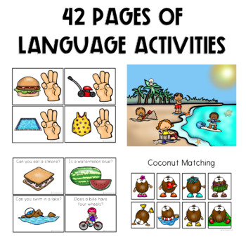 PRESCHOOL: Speech Therapy Summer Language Pack