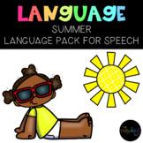 THE PRESCHOOL SLP: Speech Therapy Summer Language Pack