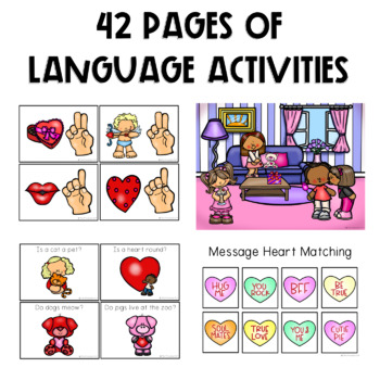 PRESCHOOL: Speech Therapy Valentine's Day Language Pack