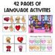 THE PRESCHOOL SLP: Speech Therapy Valentine's Day Language Pack